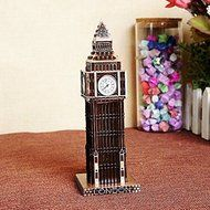 15cm London Big Ben Statue Fake Clock Gold Bronze Wine Red Color Famous Building Figurine Model For Home Decoration N2