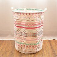 MuLuo Queen Thickening Waterproof Folding Storage Basket Laundry Drain Cloth Covered Laundry Basket Pastoral Toys...