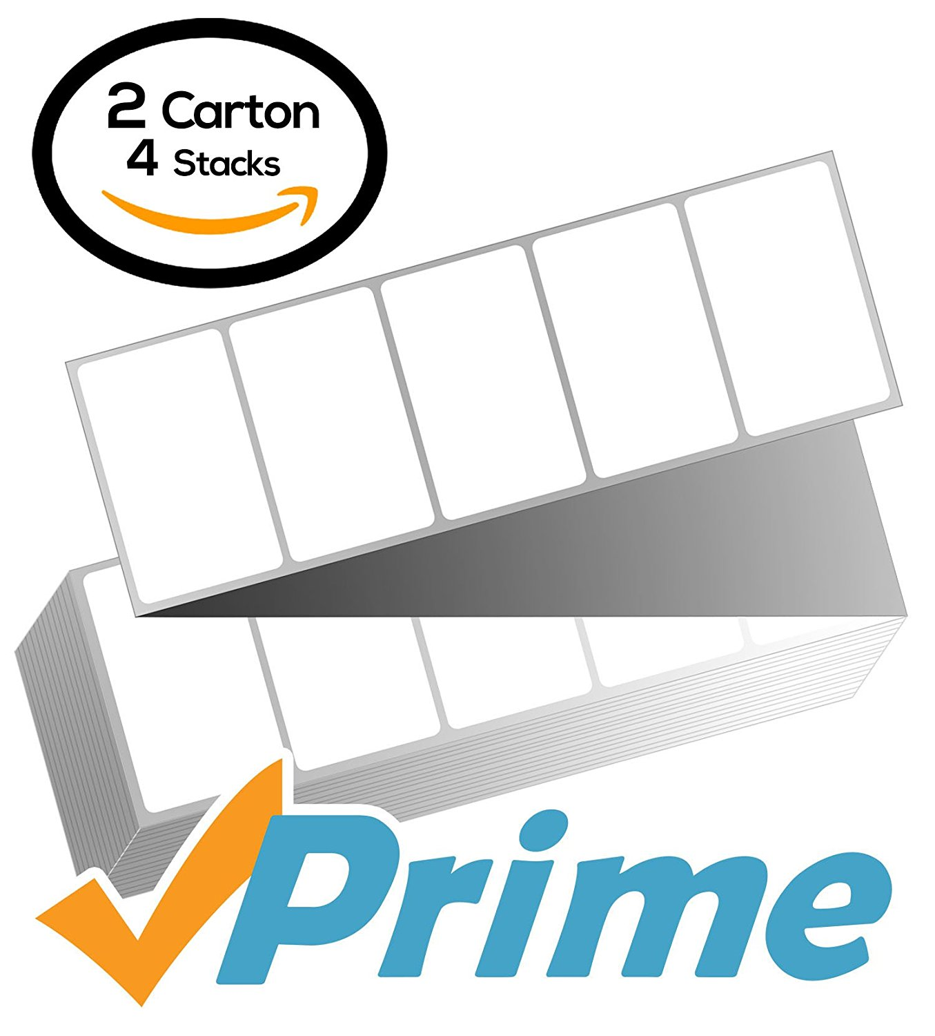 4 x 2 Fanfold Zebra Compatible Direct Thermal Labels (2 Cartons) for