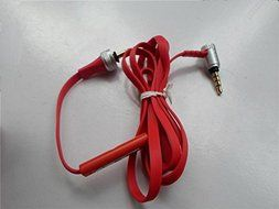Audio Remote Mic Volume Control Cable Wire Cord for Sony MDR-X10 Headphones Headphone Headset Earphone Color Red N2