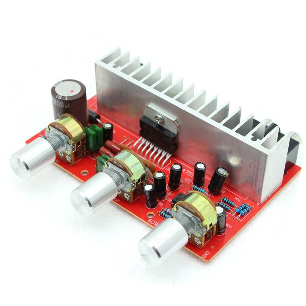Qianson Ac Dc 12v Tda7377 35w X2 Digital Audio Power Amplifier Board Circuit 20 Channel Treble Bass Stereo Amp N3
