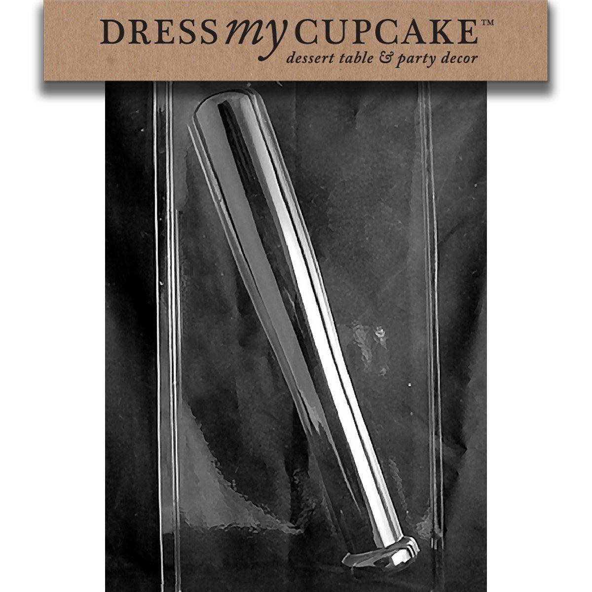 Dress My Cupcake Chocolate Candy Mold Baseball Bat Flat Back