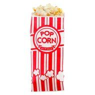 Carnival King Paper Popcorn Bags, 1 oz, Red & White, 100 Piece N3