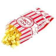 Carnival King Paper Popcorn Bags, 1 oz, Red & White, 100 Piece N4