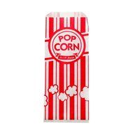 Carnival King Paper Popcorn Bags, 1 oz, Red & White, 100 Piece N5