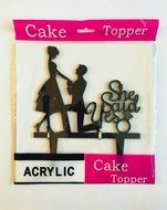 USA-SALES She Said Yes Cake Topper, Bridal Shower, Wedding Cake Decoration, by USA-SALES Seller