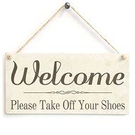 Welcome Please Take Off Your Shoes Wood Chalk Sign By meijiafei