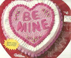 "Wilton Cake Pan: Be Mine Valentine/12"" Heart (502-2790, 1983)"
