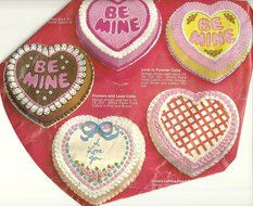 "Wilton Cake Pan: Be Mine Valentine/12"" Heart (502-2790, 1983) N2"