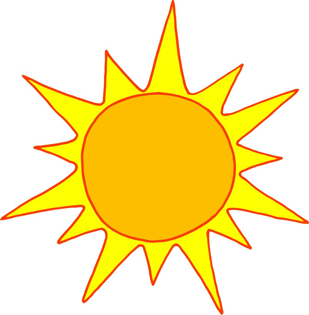 Cartoon Sun Drawing Yellow Free Image