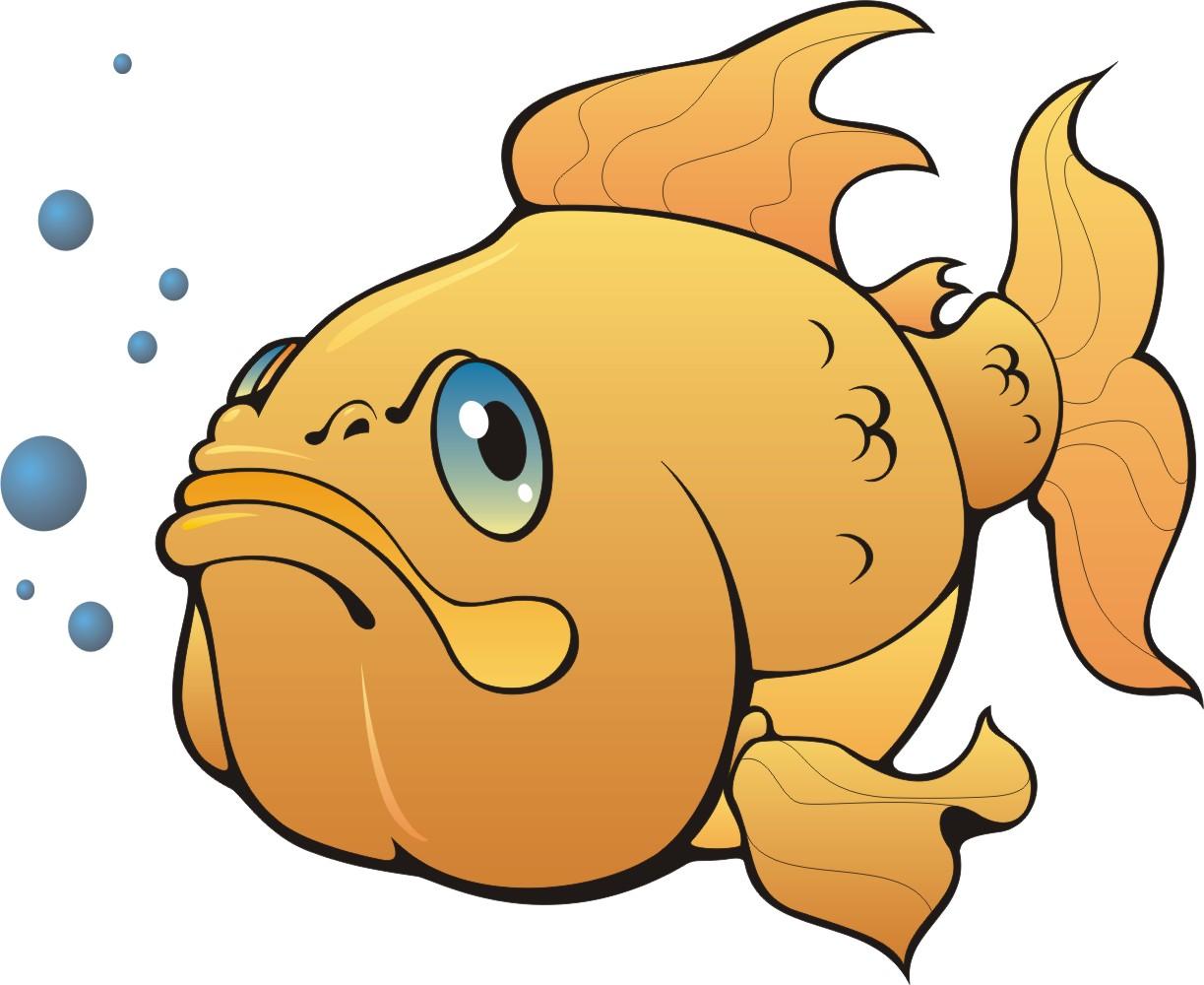 Рисунок смешной рыбки