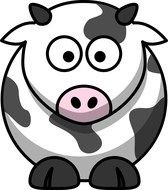 Cow Cartoon as a picture for a clipart