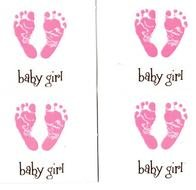 Baby Girl Footprint as a graphic illustration