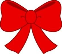 smart Red Bow Clipart