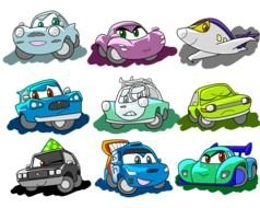 Characters From Cars drawing