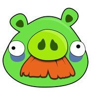 green pig from Angry Birds cartoon
