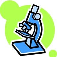 Science Microscope Clip Art drawing
