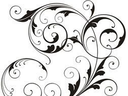 clipart of the Black Swirls design