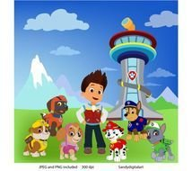 Paw Patrol Clipart Party Personal By SandyDigitalArt $5