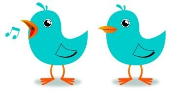 Two singing birds clipart