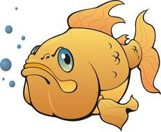 Cartoon fish underwater clipart