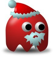 Santa Claus pacman Clip Art drawing