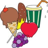 clip art with sweet snacks
