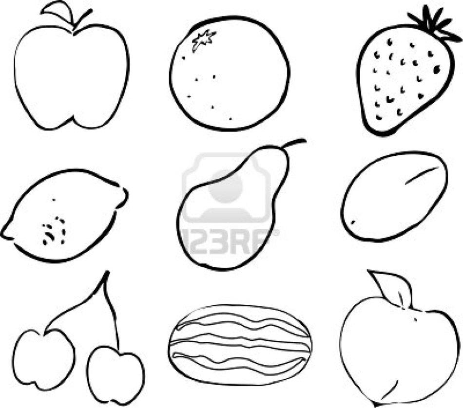 Dibujos Para Colorear De Frutas Y Verduras Free Image