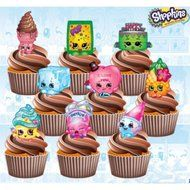 Shopkins Birthday Party Pack - Edible Stand Up Cup Cake Toppers (Pack of 36) N3
