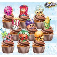 Shopkins Birthday Party Pack - Edible Stand Up Cup Cake Toppers (Pack of 36) N4