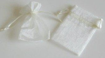 "Rina's Garden Creations Organza Favor Bags - 3""X4"" Ivory Color, Pk Of 120"