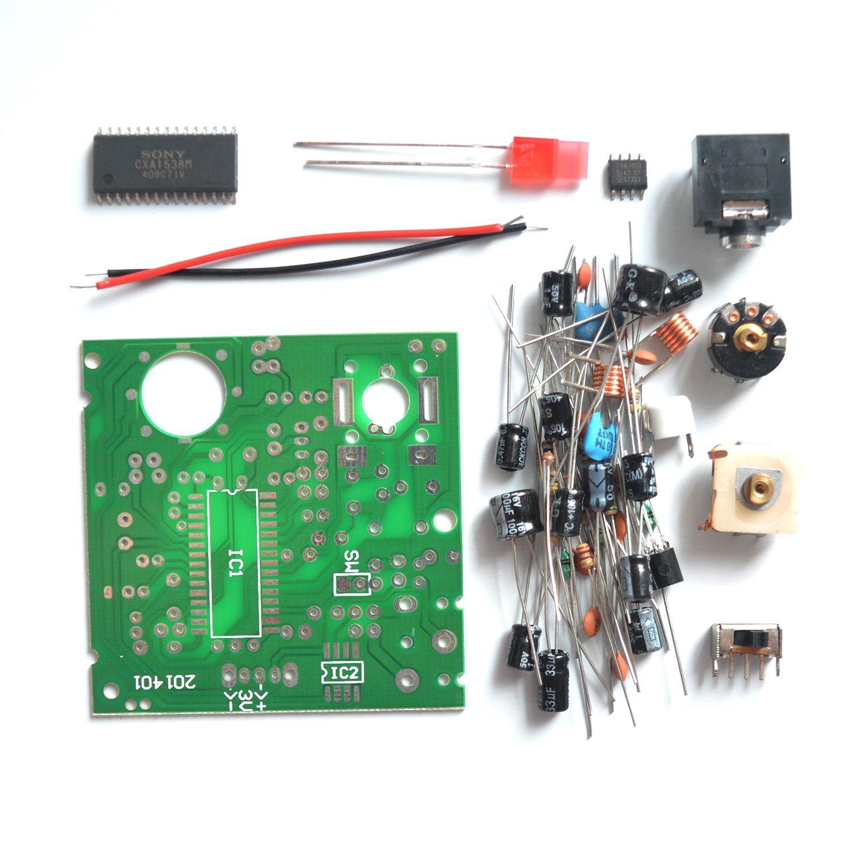Puuli 3v Cxa1238m Tda7050 9018 87 108mhz Fm Stereo Receiver Module Circuit Board Diy Kit 5x5cm