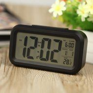 Digital Backlight Time Date Temperature Display Red Green Blue Black LED Alarm Clock Repeating Snooze