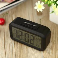 Digital Backlight Time Date Temperature Display Red Green Blue Black LED Alarm Clock Repeating Snooze N2