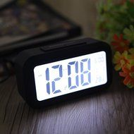 Digital Backlight Time Date Temperature Display Red Green Blue Black LED Alarm Clock Repeating Snooze N4