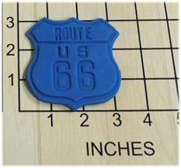 Route US 66 Road Sign Fondant Cookie Cutter and Stamp #1387