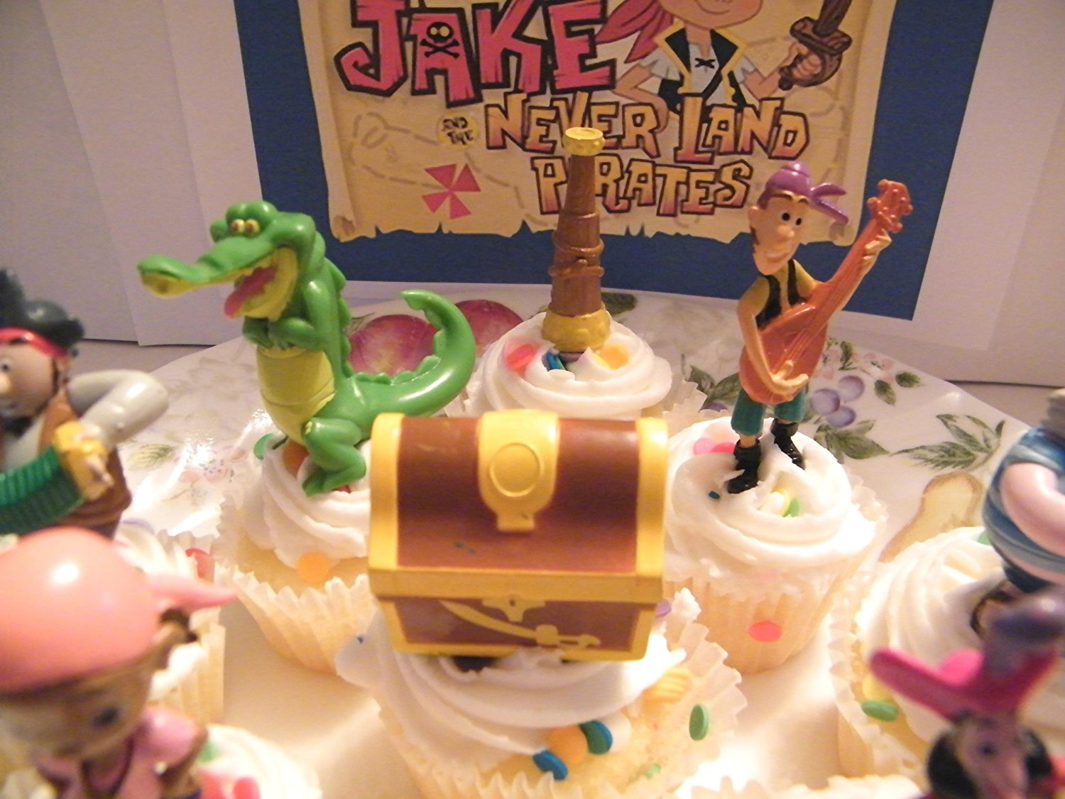 Fantastic Disney Jake And The Never Land Pirates Figure Cake Toppers Funny Birthday Cards Online Elaedamsfinfo