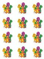 Barney the Dinosaur #1 Edible Cupcake Toppers - Set of 12