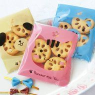 Yunko 300pcs Lovely Animals Puppy Cat & Bear Paw Self-adhesive Candy Cookie Bags for Wedding Birthday Party Gift...