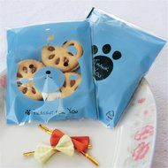 Yunko 300pcs Lovely Animals Puppy Cat & Bear Paw Self-adhesive Candy Cookie Bags for Wedding Birthday Party Gift... N2