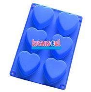 """26.7cm X 18.2cm X 3.4cm"" Heart Silicon Cake Mold Chocolate Mousse Dessert Mold & Party Wedding (Hc00048)"