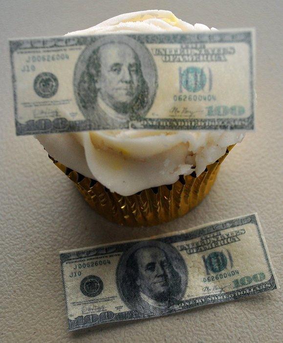 Edible Wafer Mini 100 Dollar Bills ~ BUY TWO GET THIRD FREE! free image