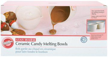 Wilton Ceramic Candy Melting Cups & Bowls-4 Inch X3-1/2 Inch