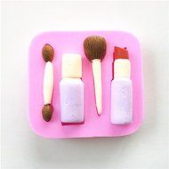 Wocuz W0632 Lipstick Eyebrow Pencil Makeup Shapes Silicone Mold Candy Molds Wedding Fondant Mold Decoration