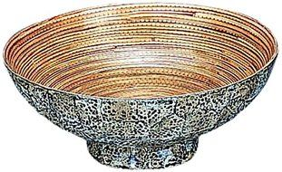 ORGBH Egg Shell Bamboo Round Bowl, Large