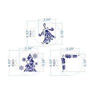 ART Kitchenware 6pcs/set Christmas Decorative Stencil Set for Cookies (Sleigh,Snowman,Holly Leave,Bell ) Fondant... N3
