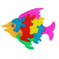 Fish Puzzles Toys ,BeautyVan Wooden Lovely Fish Blocks Puzzle Kid Educational Toy Cartoon N4