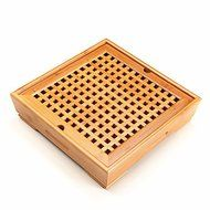 CCWY Bamboo tea tray tea set special handmade wooden Kung Fu bamboo King size bamboo tea tray storage-type water... N2