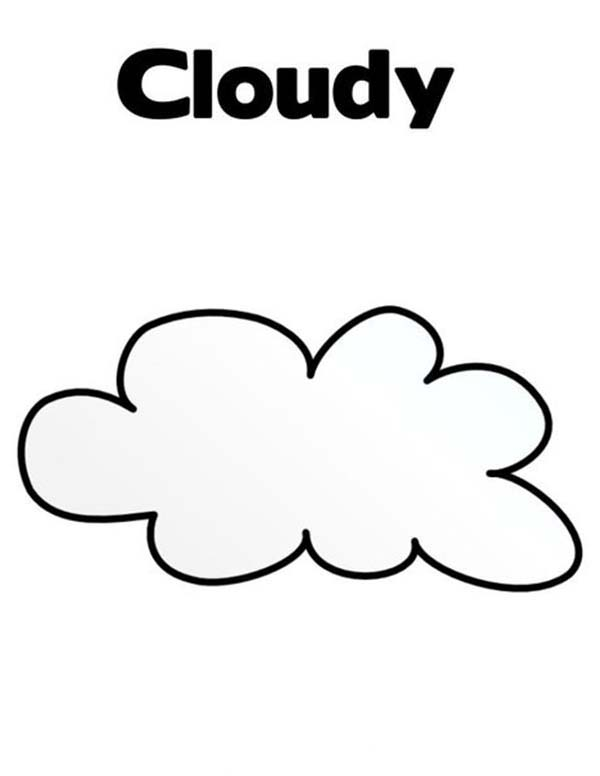 cloudy weather coloring pages - photo#5