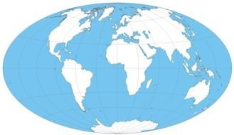 World Map Outline drawing